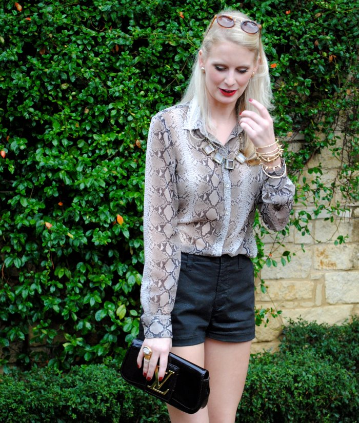 Snakeskin Print Blouse | The Style Scribe