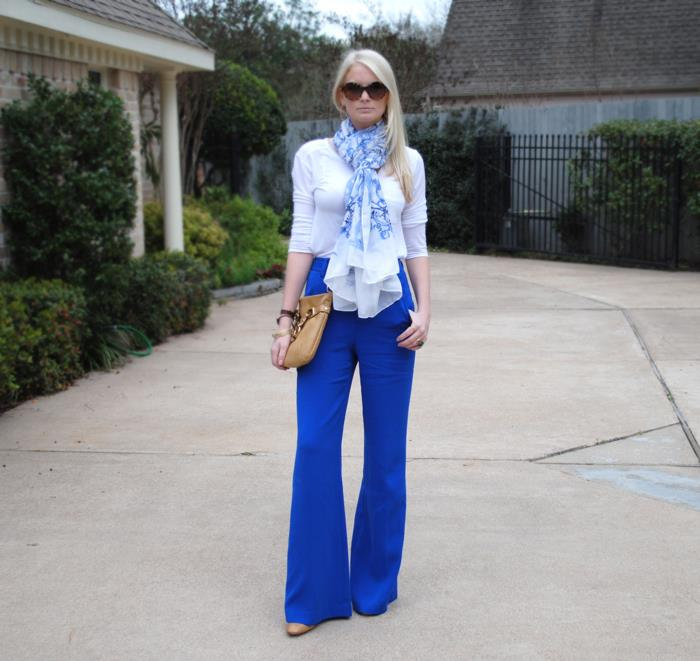 Blue High-Waisted Trousers | The Style Scribe