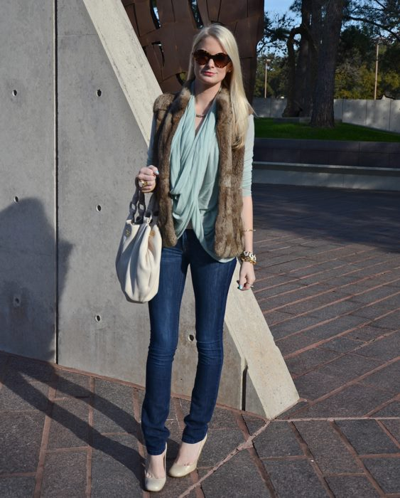 Michael Kors Rabbit Fur Vest | The Style Scribe