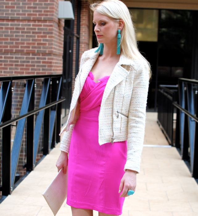 Hot Pink Jay Godfrey Dress | The Style Scribe