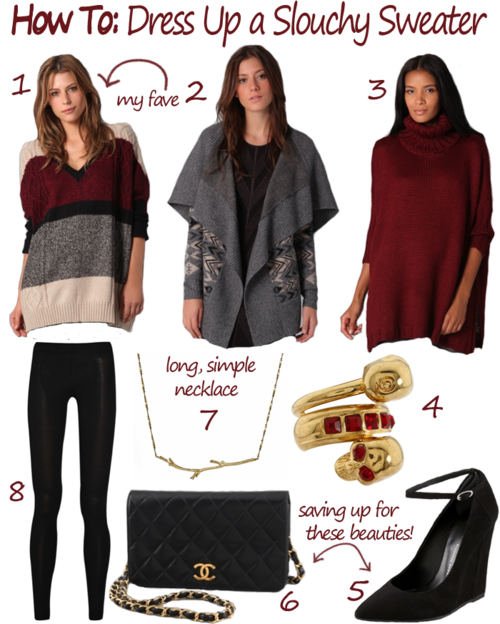 5d5bfdb6e98 HOW TO DRESS UP A SLOUCHY SWEATER | The Style Scribe