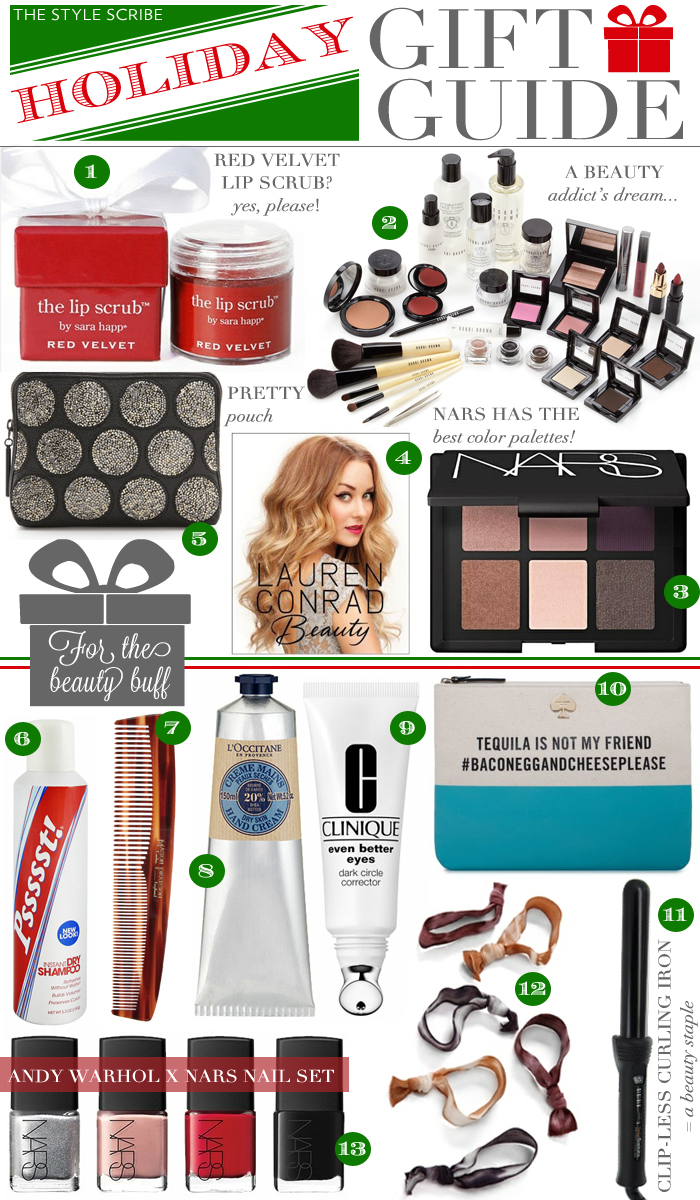 HOLIDAY GIFT GUIDE - FOR THE BEAUTY BUFF