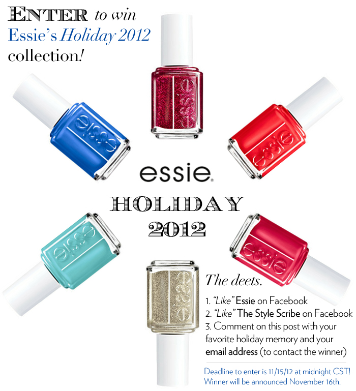 Essie Holiday 2012 GIveaway