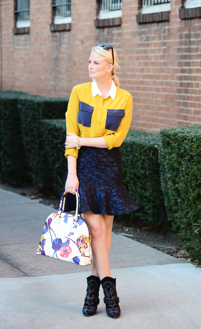 MUSTARD + NAVY - THE STYLE SCRIBE