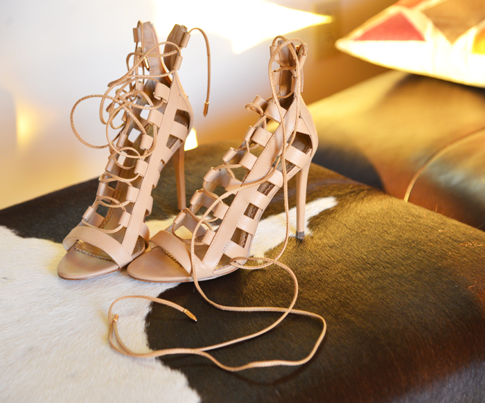 AQUAZZURA STRAPPY SANDALS