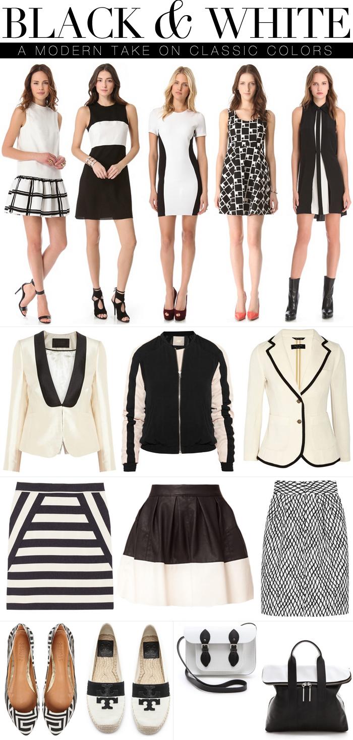 black + white, a modern take on classic colors