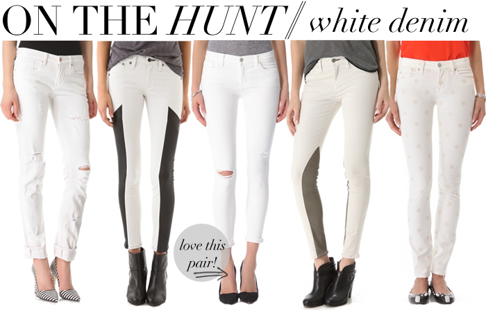 ON THE HUNT // WHITE DENIM | The Style Scribe