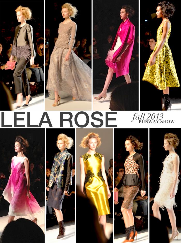 Lela Rose Fall 2013 Runway Show