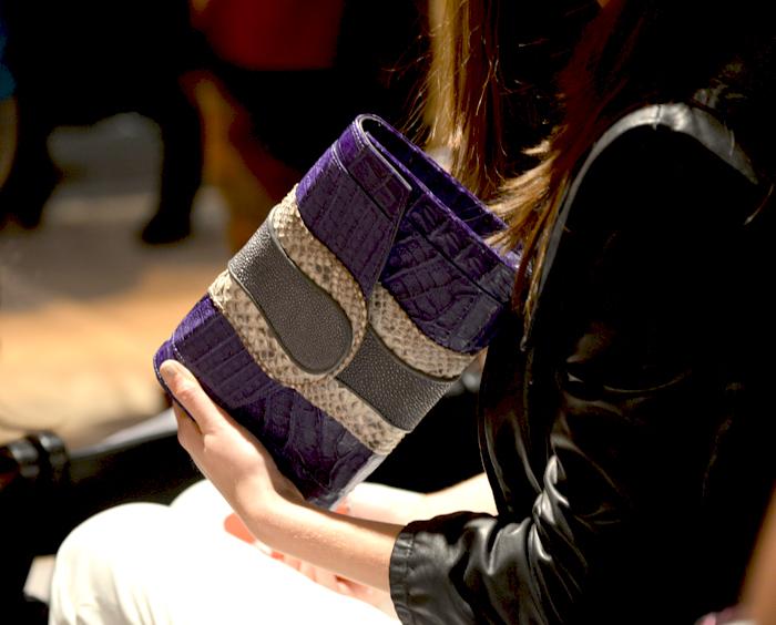 Snakeskin and Eel purse