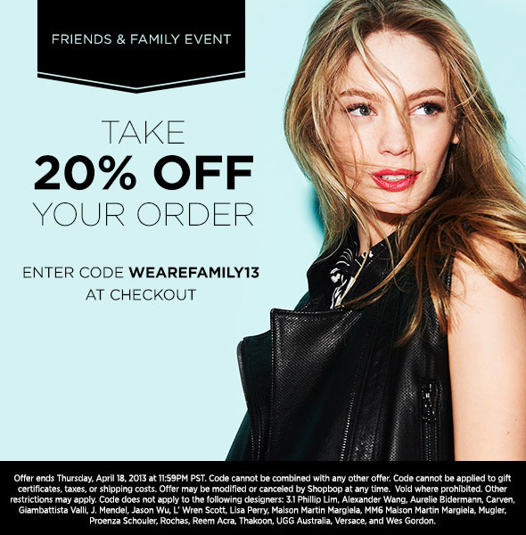 Friends & Family Sale Shopbop | The Style Scribe