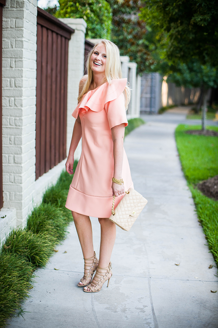 Chloe Ruffled One-Shoulder Dress