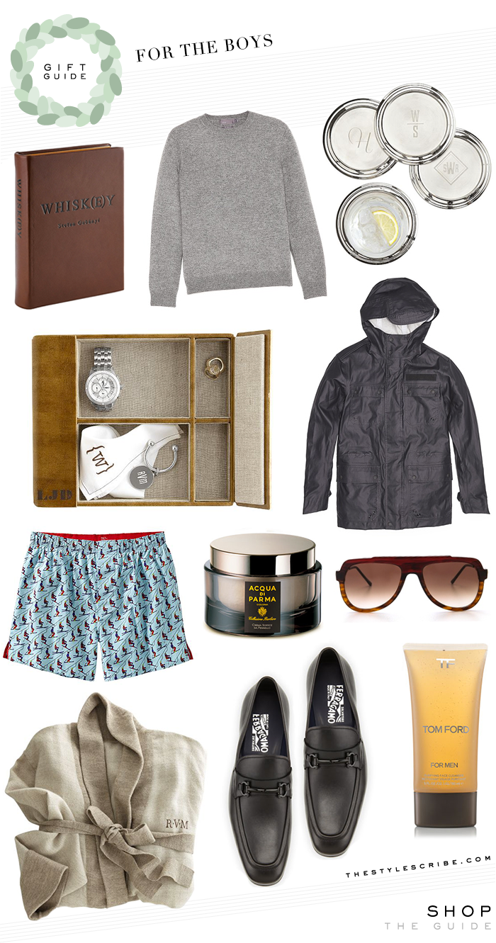 Holiday Gift Guide // For The Boys - The Style Scribe by Merritt Beck