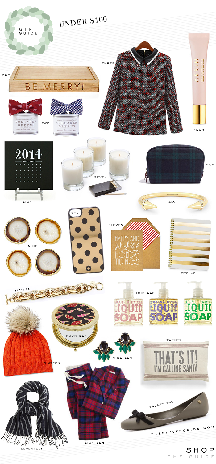 Holiday gift guide under the style scribe