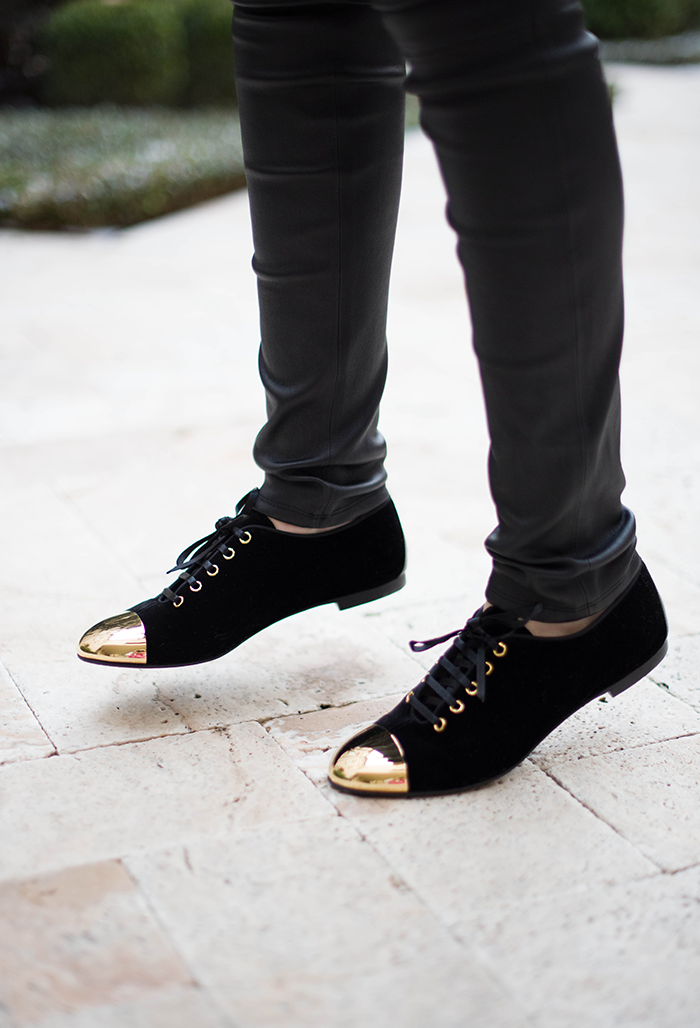 Giuseppe Zanotti Velvet Cap-Toe Oxford | The Style Scribe, Texas Fashion Blog