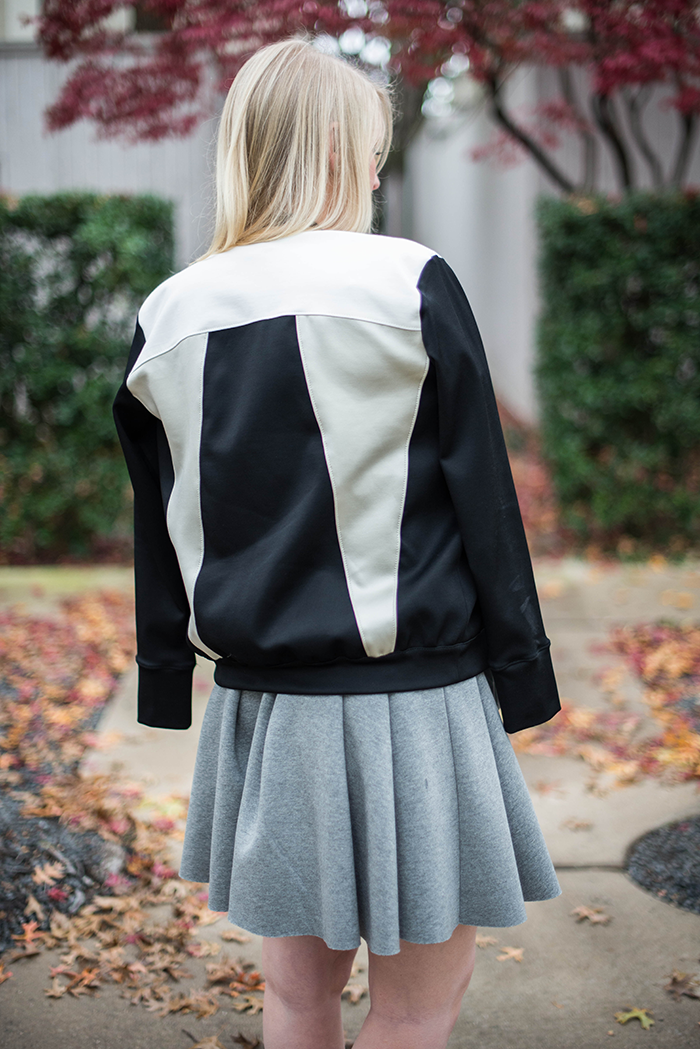 Helmut Lang Colorblock Bomber Jacket, Scoop NYC | The Style Scribe