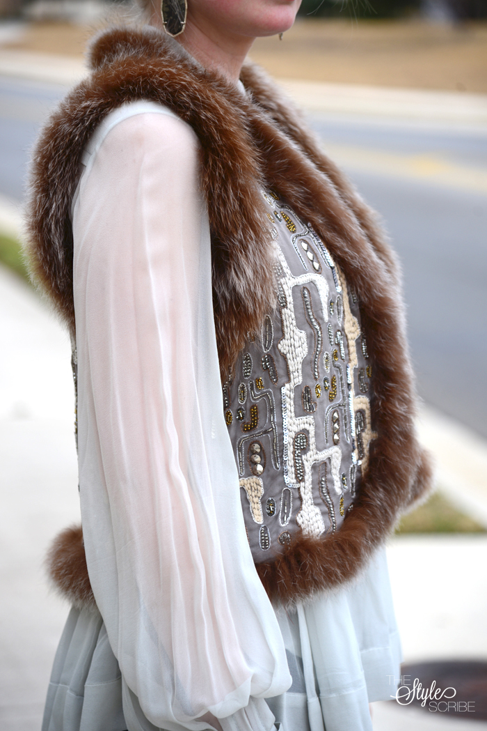 Alice + Olivia Fur embellished Vest