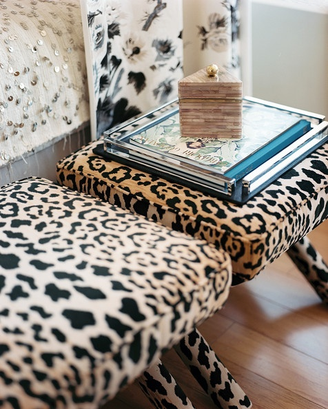 Animal Print Benches | The Style Scribe