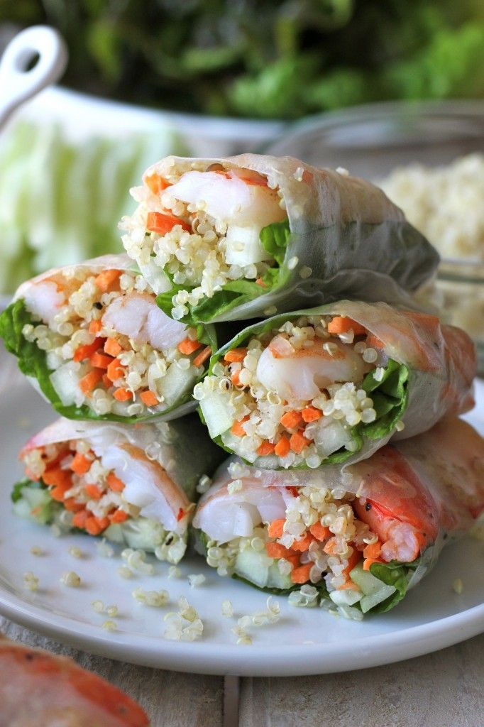 Shrimp & Quinoa Spring Rolls | The Style Scribe
