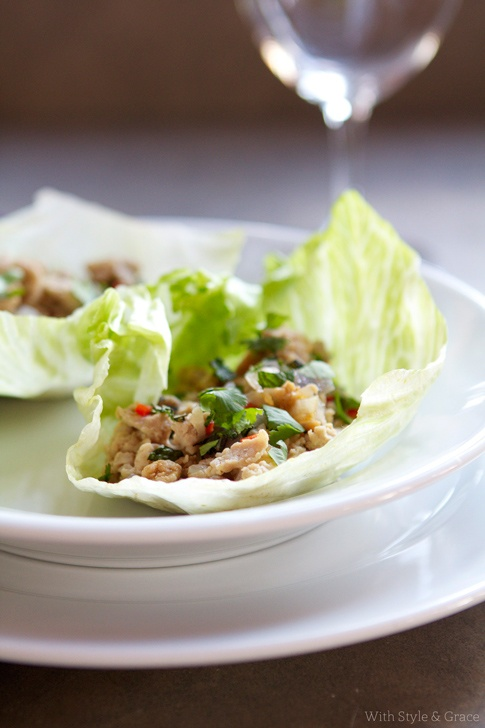 Chicken Lettuce Cups | The Style Scribe