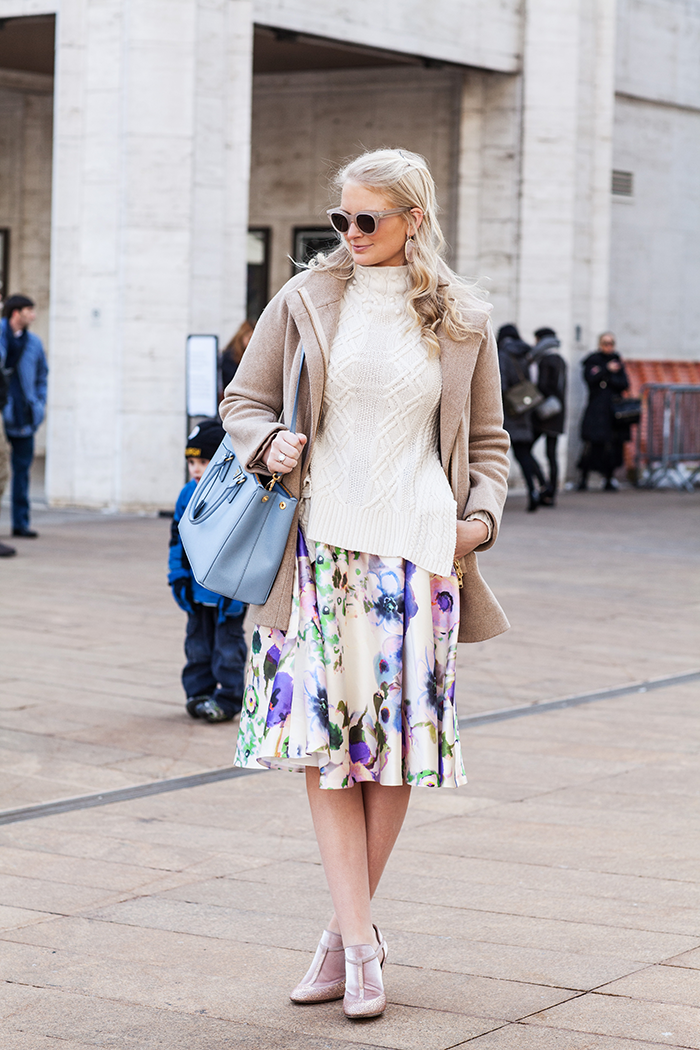 Lela Rose Floral Midi Skirt | The Style Scribe