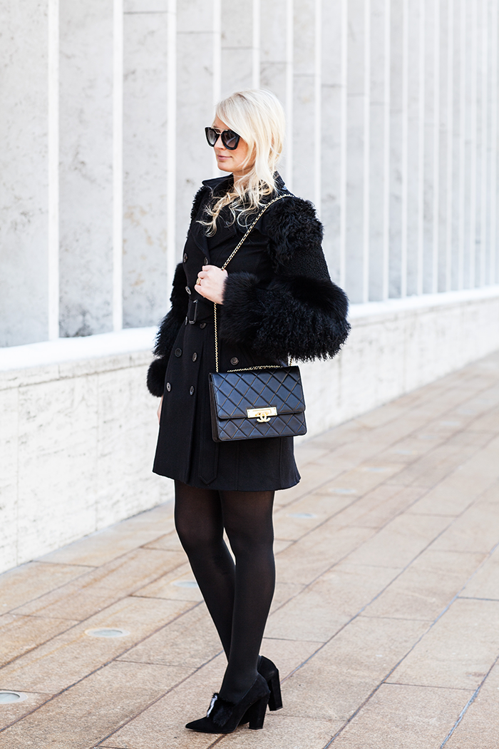 Burberry Fur-Sleeved Coat, Fendi Fur-Paneled Pumps | The Style Scribe