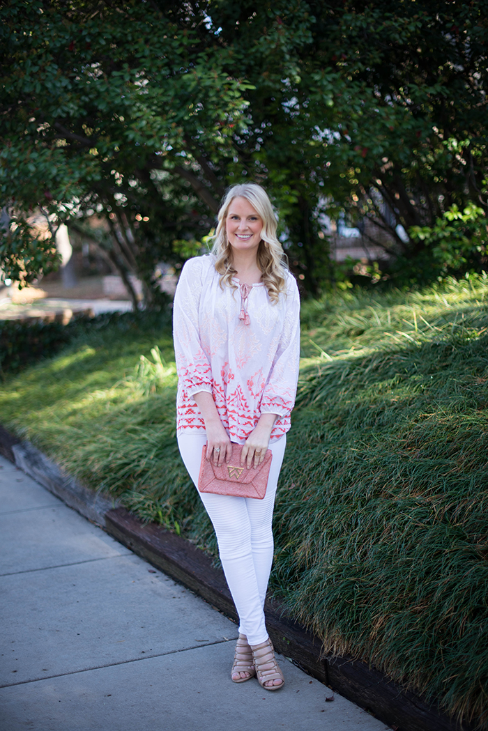 Calypso Tunic & J Brand Moto Jeans | The Style Scribe