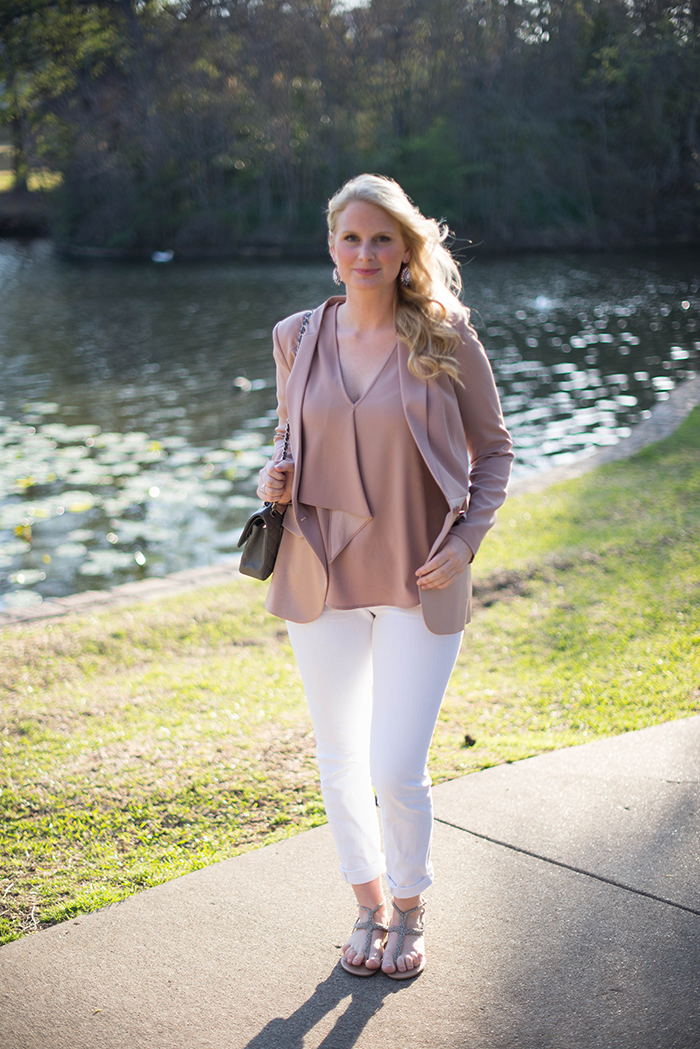 Blush Blazer, Chelsea28 | The Style Scribe