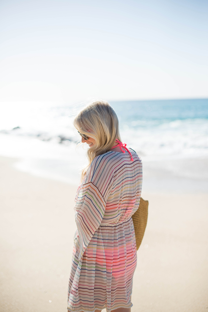Calypso Norta Multi Stripe Cover-Up | The Style Scribe