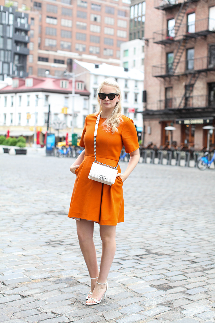 Phillip Lim Orange Dress | The Style Scribe