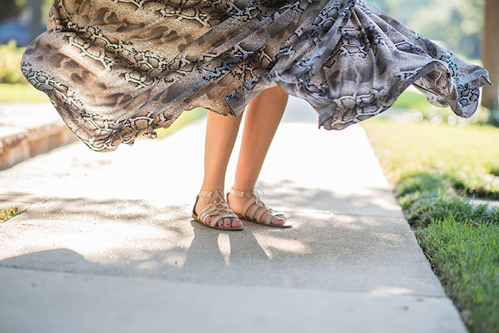 Snakeskin Maxi Skirt | The Style Scribe