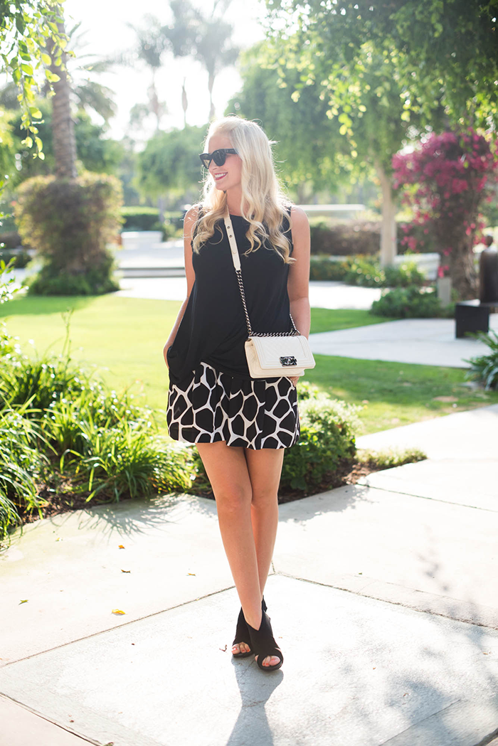 Club Monaco Giraffe Printed Shorts | The Style Scribe