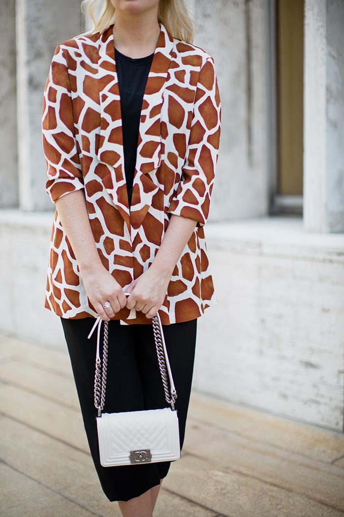 Jagger Giraffe Print Blazer | The Style Scribe