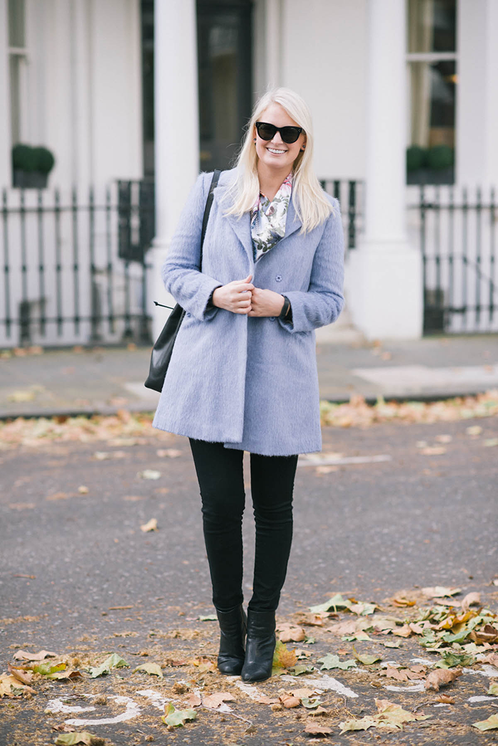 Givenchy Scarf + Topshop Coat | The Style Scribe