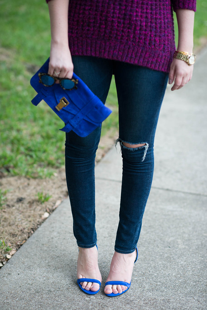 Purple Tibi Sweater | The Style Scribe