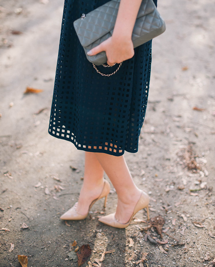 Reiss Laser Cut Midi Skirt | The Style Scribe