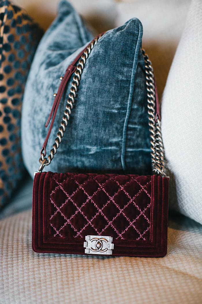 Velvet Chanel Boy Bag | The Style Scribe