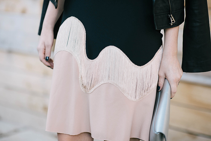 Philosophy di Alberta Ferretti Fringe Dress | The Style Scribe