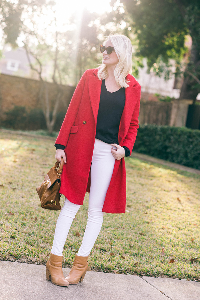 ASOS Red Coat | The Style Scribe