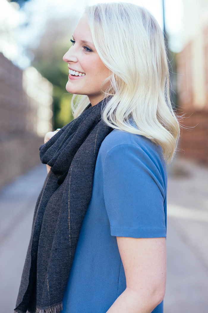 J.Crew Pinstripe Scarf | The Style Scribe