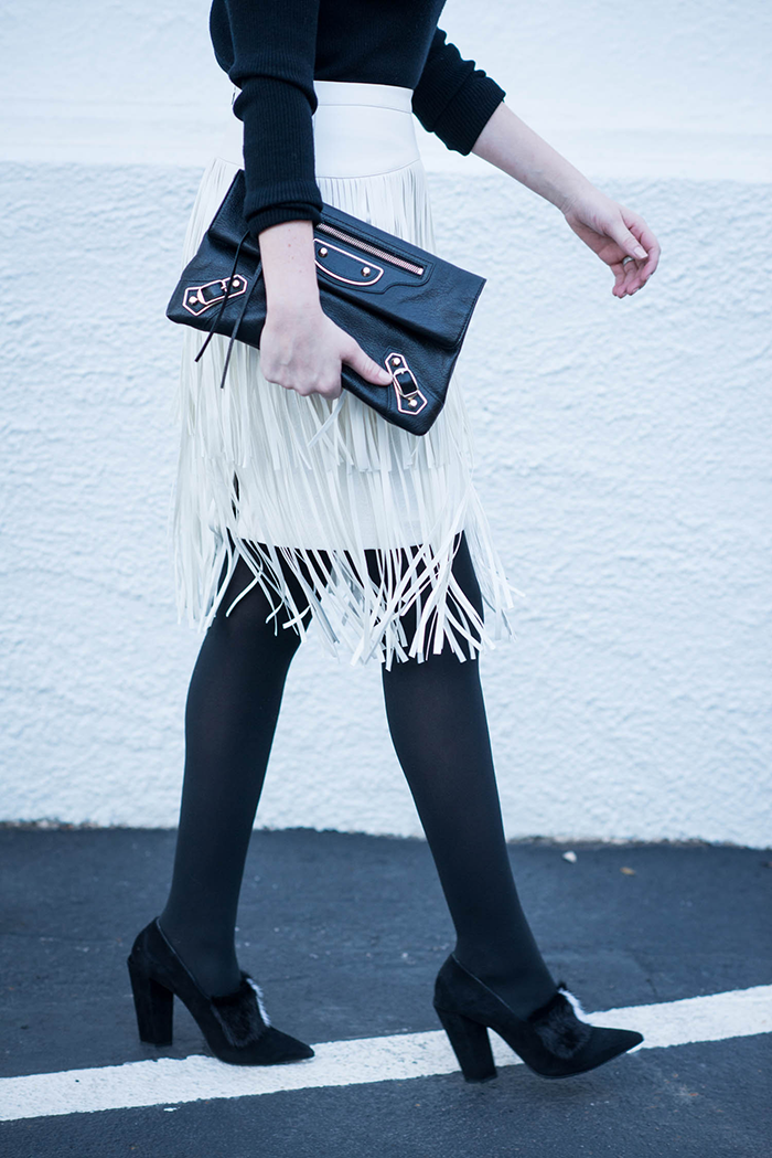 White Fringe Skirt | The Style Scribe