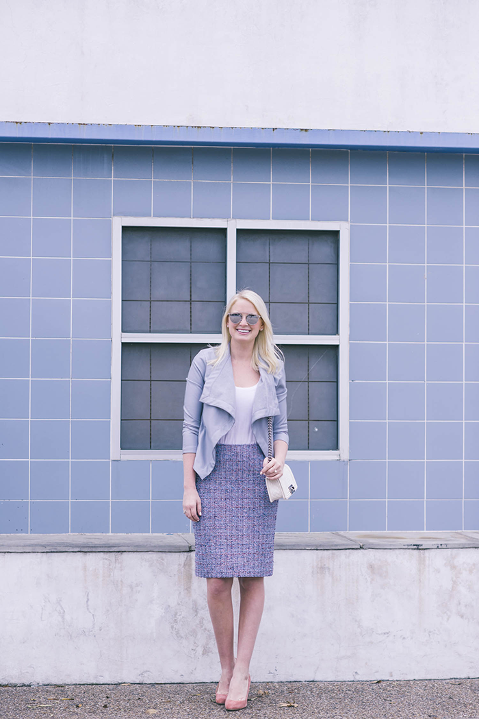 St John Tweed Skirt | The Style Scribe