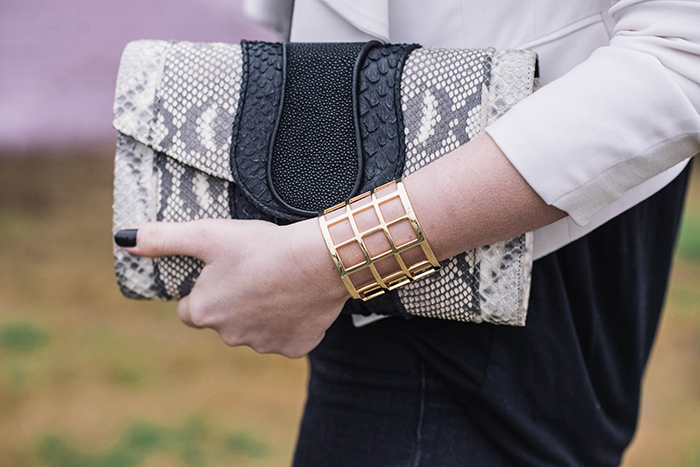 Khirma New York Python Clutch | The Style Scribe
