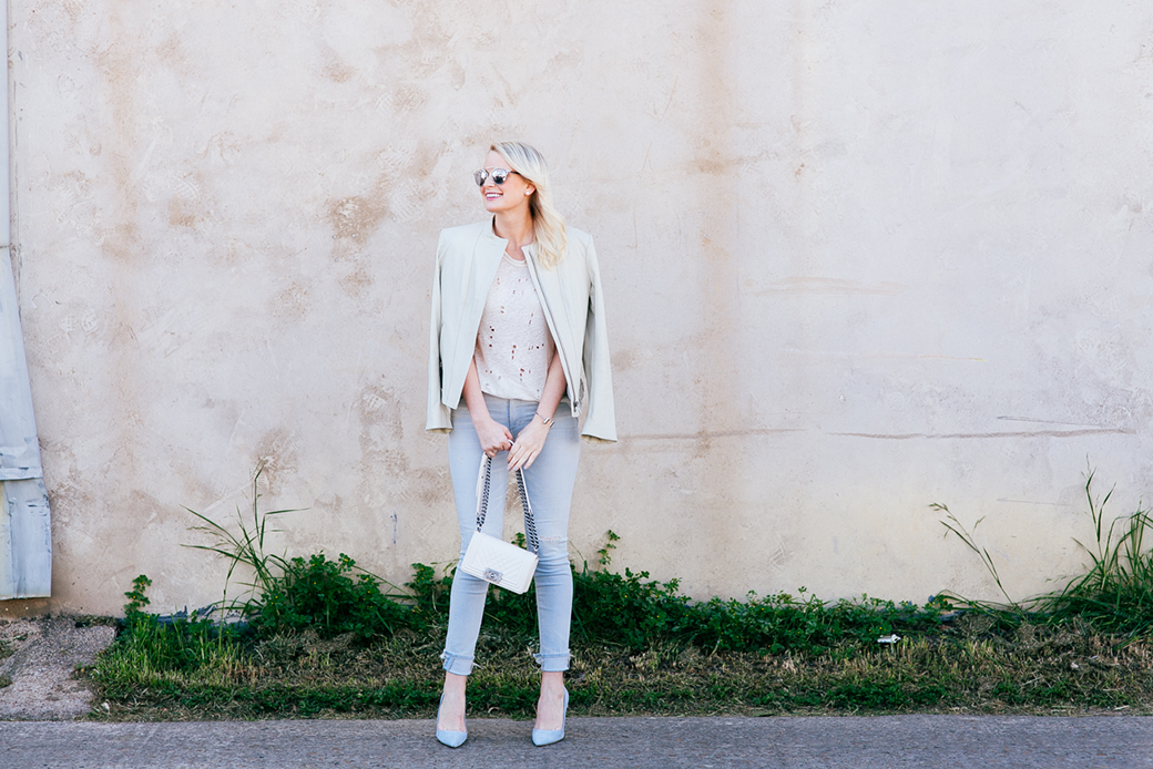 Pastel Leather Jacket | The Style Scribe