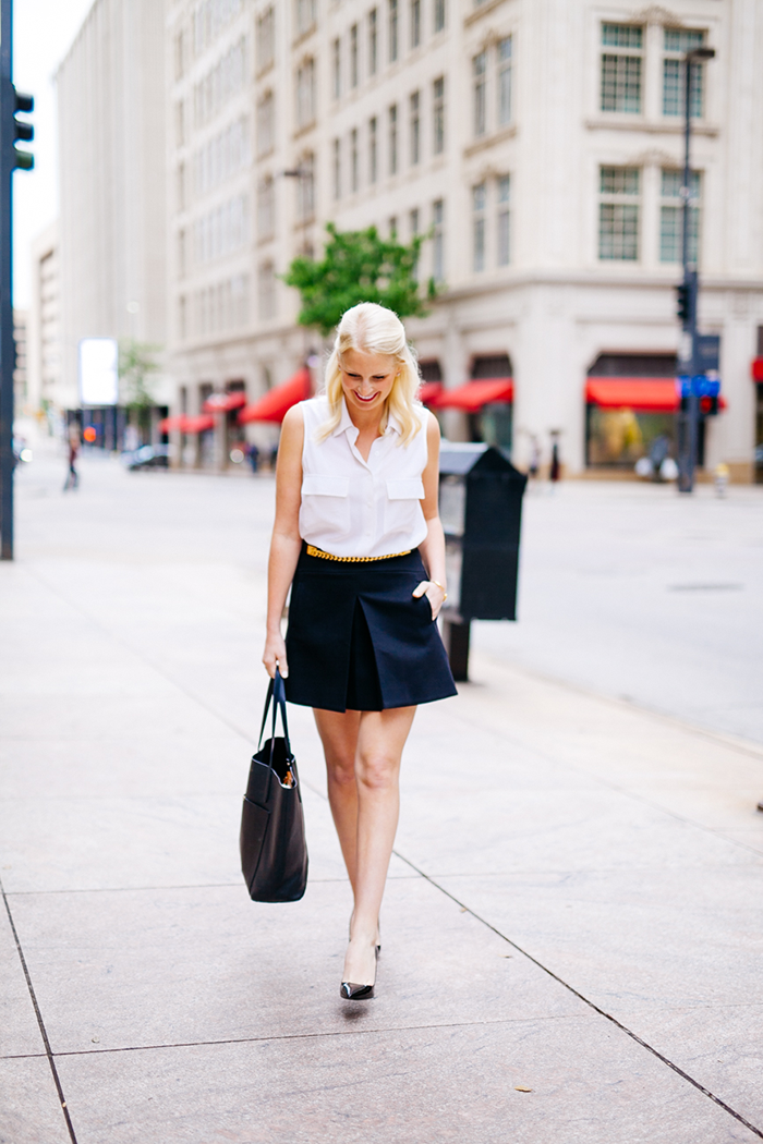 J.Crew Pleat Front Skirt   The Style Scribe