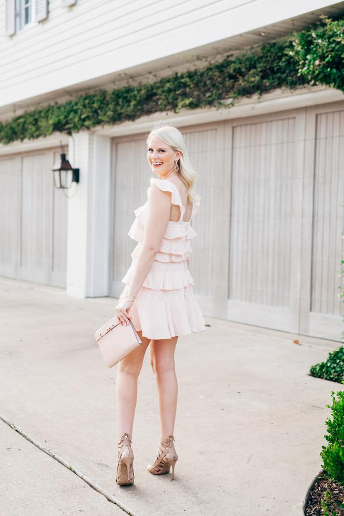 BCBG Ruffle Mini Dress | The Style Scribe