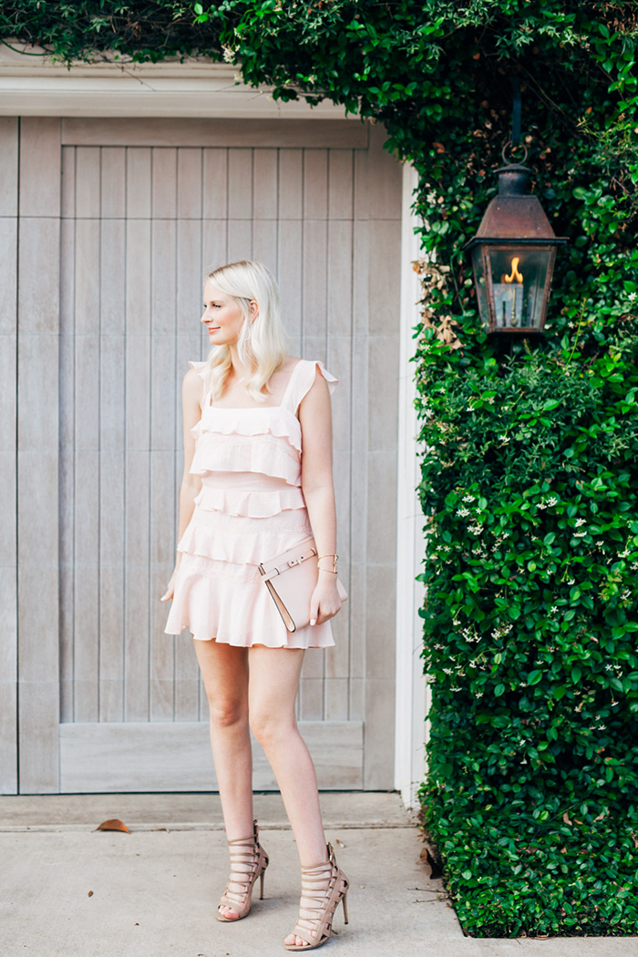 BCBG Ruffle Mini Dress | The Style Scribe