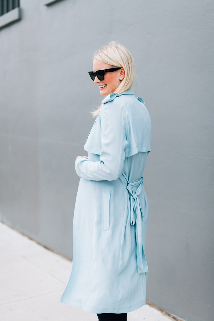 Timo Weiland Silk Trench | The Style Scribe