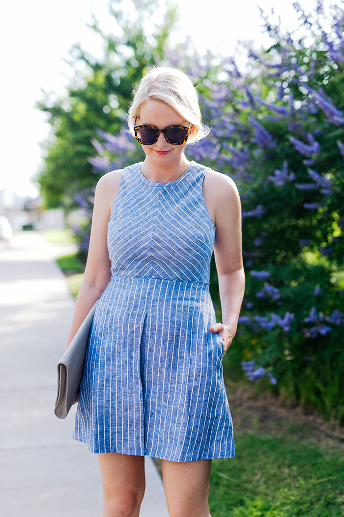 J.Crew Chevron Striped Dress | The Style Scribe