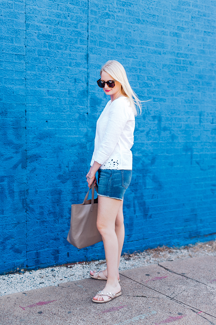 J.Crew Embroidered Linen Shirt | The Style Scribe