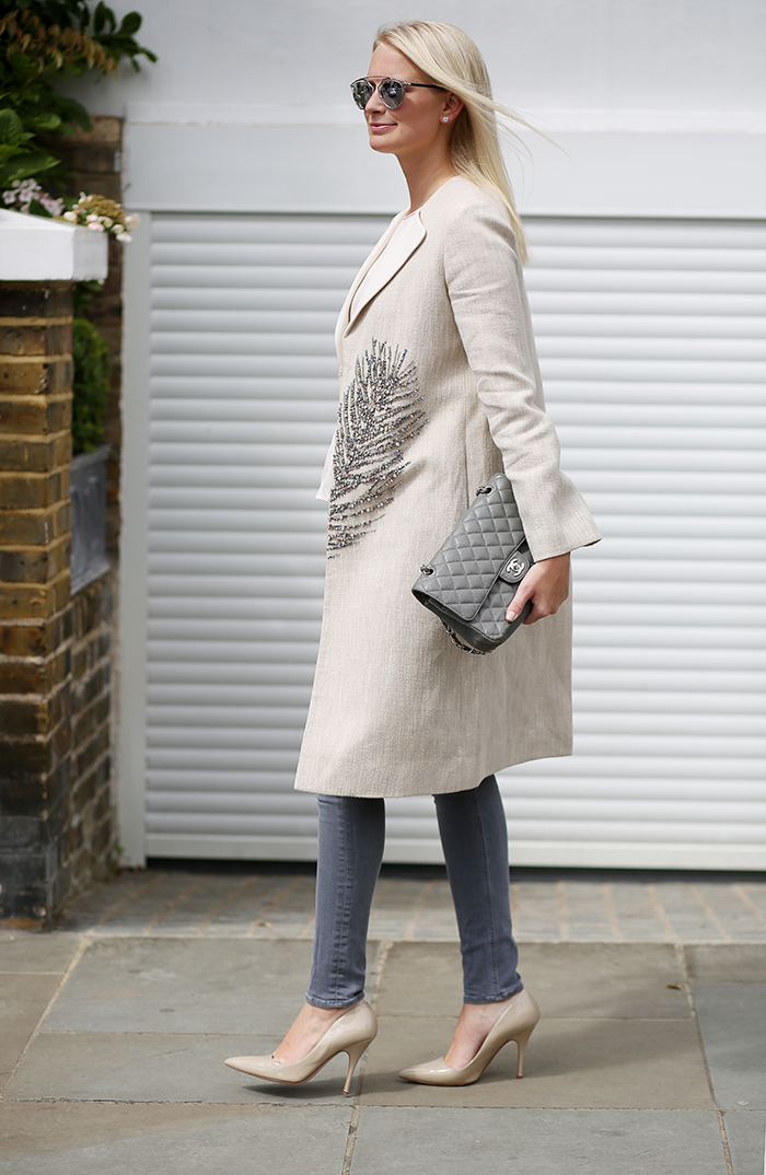 Tory Burch Embellished Coat | The Style Scribe